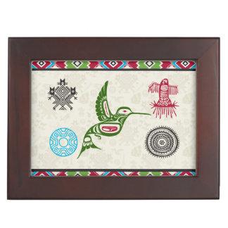 Native American Symbols and Wisdom - Hummingbird Keepsake Boxes