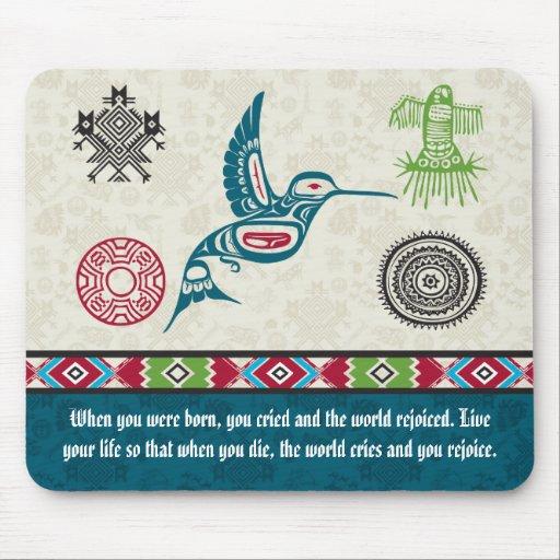 Native American Symbols and Wisdom - Hummingbird Mouse Pads