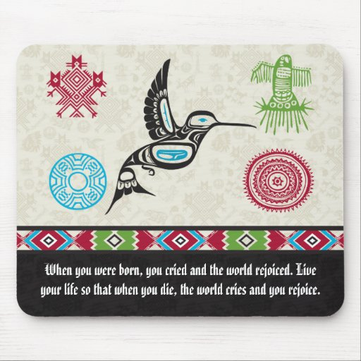 Native American Symbols and Wisdom - Hummingbird Mousepad