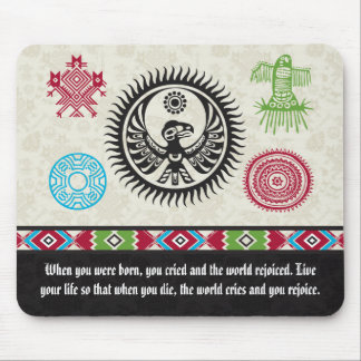 Native American Symbols and Wisdom - Phoenix Mouse Mat