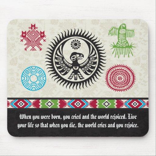 Native American Symbols and Wisdom - Phoenix Mousepads