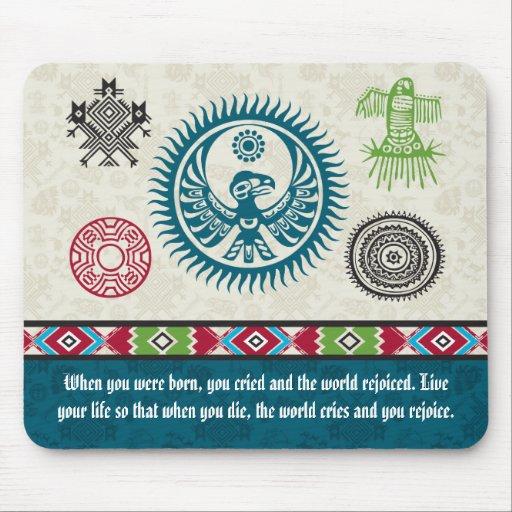 Native American Symbols and Wisdom - Phoenix Mouse Pad
