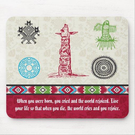 Native American Symbols and Wisdom - Totem Pole Mousepads