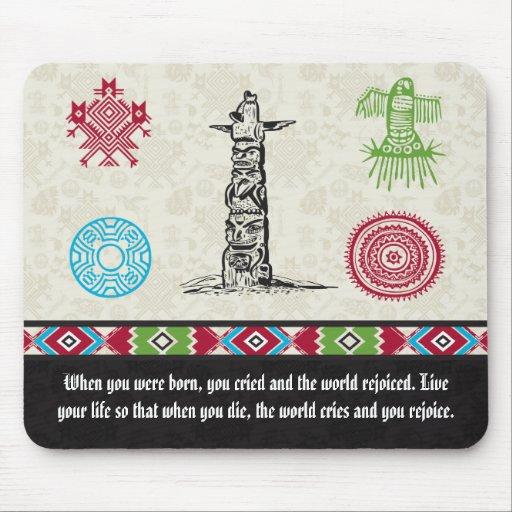 Native American Symbols and Wisdom - Totem Pole Mousepad