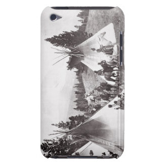 Native American Teepee Camp, Montana, c.1900 (b/w Barely There iPod Cases