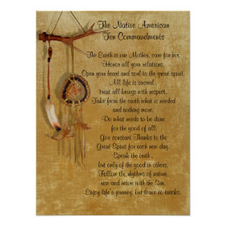 Native American Ten Commandments poster