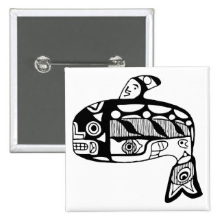 Native American Tlingit Whale Pins