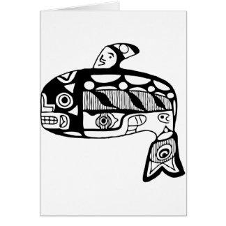 Native American Tlingit Whale Card