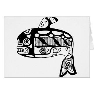 Native American Tlingit Whale Greeting Card
