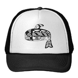 Native American Tlingit Whale Mesh Hat