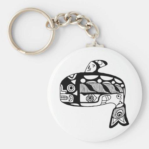 Native American Tlingit Whale Key Chains