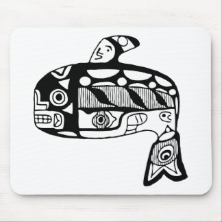 Native American Tlingit Whale Mouse Pad