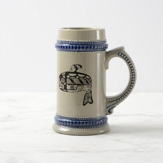 Native American Tlingit Whale Mugs