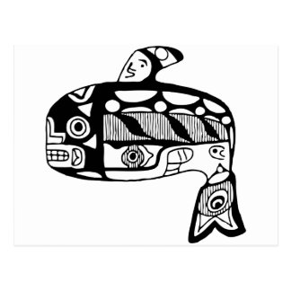 Native American Tlingit Whale Postcards