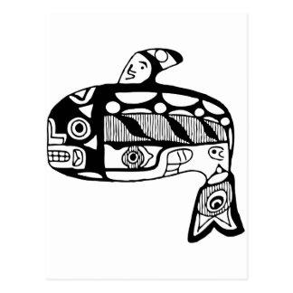 Native American Tlingit Whale Postcard