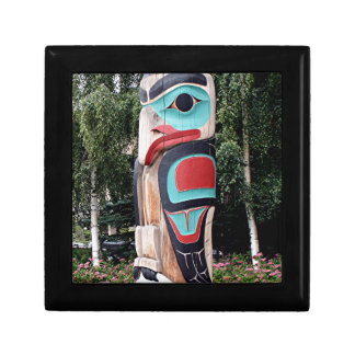Native American Totem Pole,  Anchorage, Alaska Gift Box