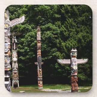 Native American totem poles, Vancouver, British Coaster
