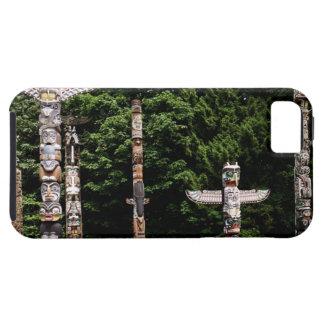 Native American totem poles, Vancouver, British iPhone 5 Case