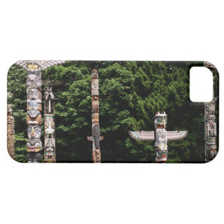 Native American totem poles, Vancouver, British iPhone 5 Cases