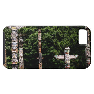 Native American totem poles, Vancouver, British iPhone 5 Covers