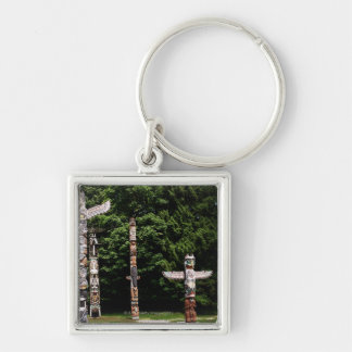 Native American totem poles, Vancouver, British Key Ring