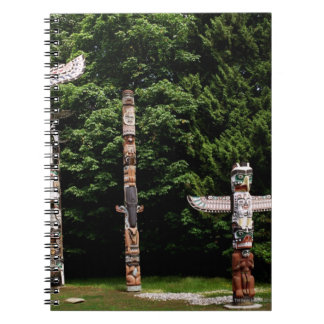 Native American totem poles, Vancouver, British Notebook