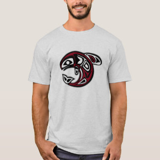 Native American Tribal Fish Design T-Shirt