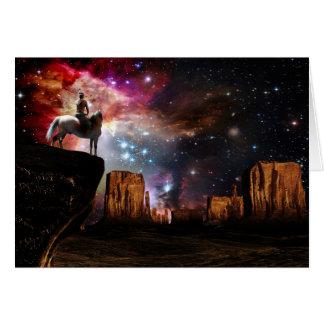 Native American Universe Greeting Card
