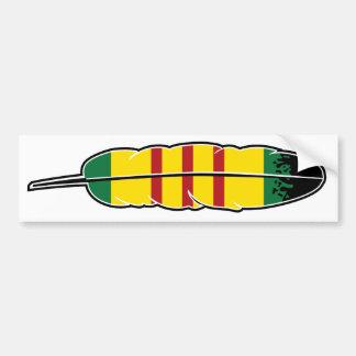 Native American Vietnam Veteran Bumper Sticker