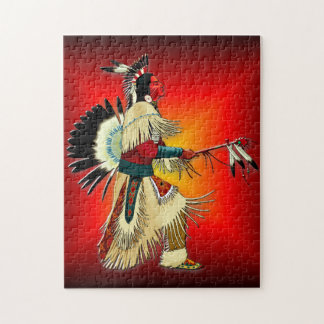 Native American Warrior Jigsaw Puzzle