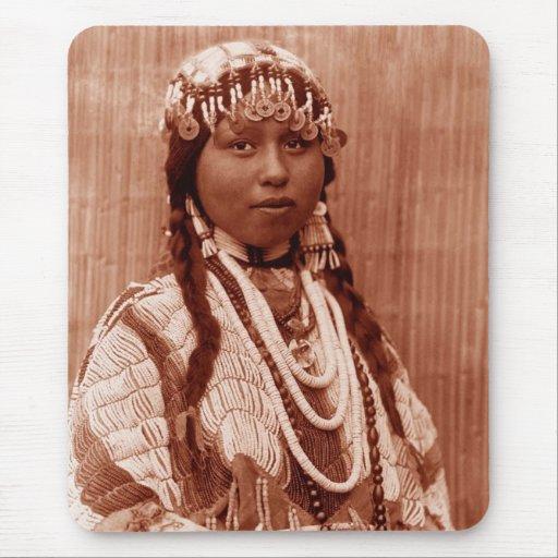 Native American Wishram Bride Mouse Pad