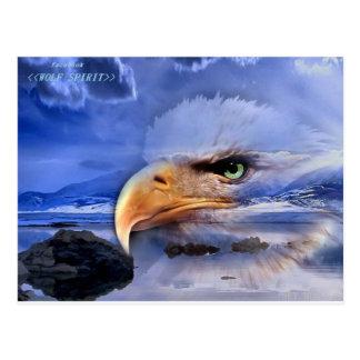 NATIVE AMERICAN / WOLF SPIRIT ART POST CARD