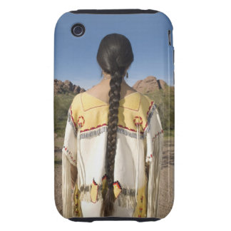 Native American woman in traditional clothing 2 iPhone 3 Tough Covers