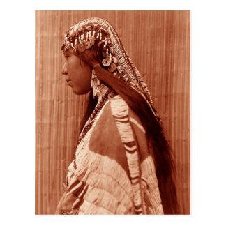 Native American Woman Post Card