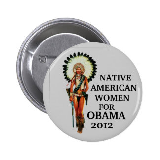 Native American Women for Obama 2012 6 Cm Round Badge