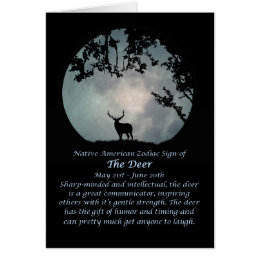 Native american birthday cards invitations zazzle native american zodiac sign of the deer card bookmarktalkfo Choice Image