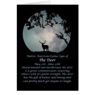 Native American Zodiac Sign of the Deer Card