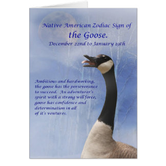 Native American Zodiac Sign of the Goose Card