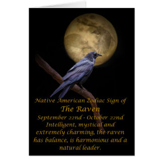 Native American Zodiac The Raven Card