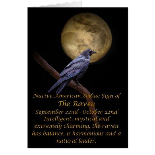 Native American Zodiac The Raven Card