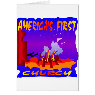 Native Americans, Americas First Church Greeting Card
