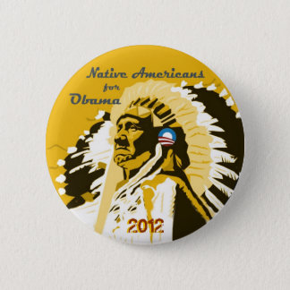 Native Americans for Obama 2012 6 Cm Round Badge