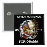 Native Americans for Obama 2012 Buttons