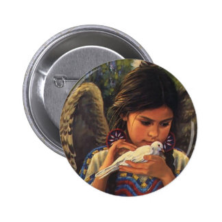 Native Angel Collector Pen! 6 Cm Round Badge