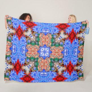 Native Apache Shaman Spirit World Tribal Mandala Fleece Blanket