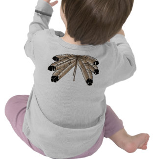 Native Baby Shirt First Nations Feather Baby Shirt