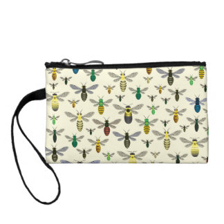Native Bees Small Coin Bag Change Purses