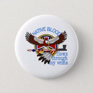 Native Blood 6 Cm Round Badge