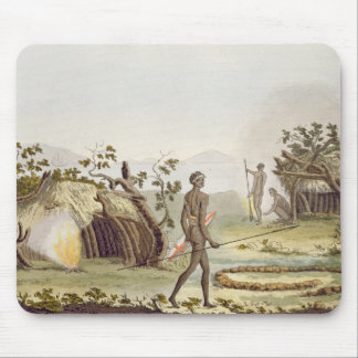 Native cabin, New Holland, plate 64 from 'Le Costu Mouse Mat