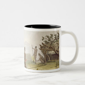 Native cabin, New Holland, plate 64 from 'Le Costu Two-Tone Coffee Mug